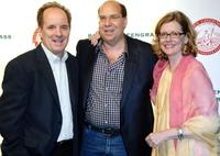 John Pankow, Gary Greengrass and Kristine Sutherland at the Barney Greengrass celebration of 100 years.