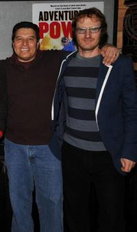 Albert Huerta and Ari Gold at the premiere of