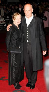 James Faulkner and his guest at the world premiere of