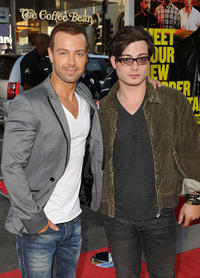 Joey Lawrence and Andrew Lawrence at the California premiere of