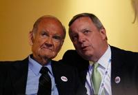 George McGovern and Sen. Dick Durbin at the Democratic National Convention (DNC).