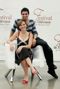Aurelie Bargeme and Stephane Metzger at the 2007 Monte Carlo Television Festival.