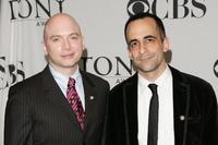 Michael Cerveris and David Pittu at the 2007 Tony Awards nominees press reception.