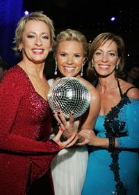 Amanda Keller, Sonia Kruger and Kerry Armstrong at the Dancing With The Stars after show drinks party.