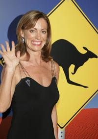 Kerry Armstrong at the Penfolds Gala Black Tie Dinner.