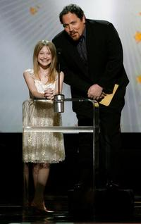 Jon Favreau and Dakota Fanning at the 12th annual critics' choice awards - show.