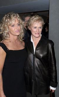 Farrah Fawcett and Glenn Close at the screening of