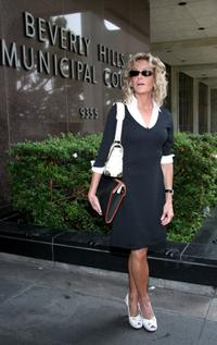 Farrah Fawcett at the jury duty at Beverly Hills Municipal Court.
