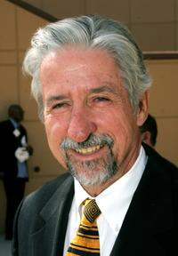 Tom Hayden at the funeral services for Lawyer Johnnie L. Cochran, Jr.