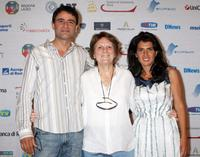 Vincenzo Amato, Director Liliana Cavani and Maya Sansa at the Roma Fiction Fest 2008.