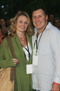 Rachael Blake and Guest at the Tropfest Short Film Festival in Sydney.