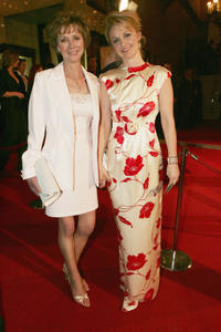 Rachael Blake and Guest at the AFI Awards in Australia.
