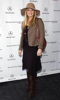 Jessica Capshaw at the Mercedes-Benz Fashion week.