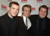 Russell Tovey, Jamie Parkers and James Corden at the Manhattan Theatre Club Spring Gala.