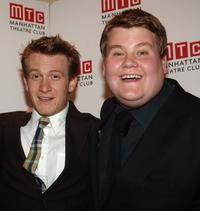 Jamie Parkers and James Corden at the Manhattan Theatre Club Spring Gala.