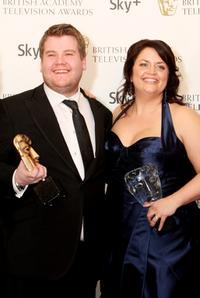 James Corden and Ruth Jones at the British Academy Television Awards 2008.