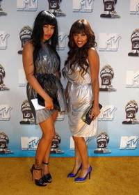 LaMyia Good and Meagan Good at the 17th Annual MTV Movie Awards.
