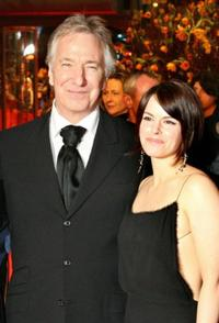 Alan Rickman and Emily Hampshire at the screening of