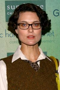 Shalom Harlow at the Sundance channels