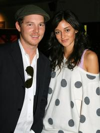 Shawn Hatosy and Caroline DAmore at the Mercedes Benz Fashion Week.