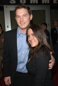 Shawn Hatosy and guest at the premiere of