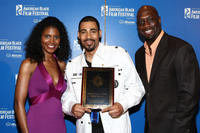 Denise Boutte, Mel Jackson and Richard T. Jones at the 12th Annual American Black Film Festival Closing Film