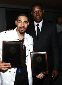 Mel Jackson and Dennis Haysbert at the 12th Annual American Black Film Festival.