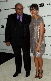 Quincy Jones and Rashida Jones at the 17th Annual Elton John AIDS Foundation's Academy Award Viewing Party.