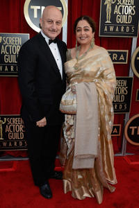 Anupam Kher and Kirron Kher at the 19th Annual Screen Actors Guild Awards.