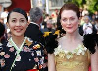 Yoshino Kimura and Julianne Moore at the opening ceremony and screening of
