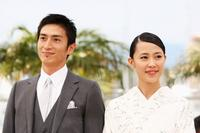 Yusuke Iseya and Yoshino Kimura at the photocall of
