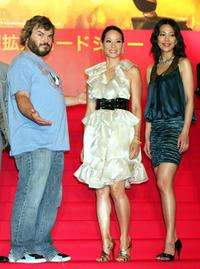 Jack Black, Lucy Liu and Yoshino Kimura at the Japan premiere of