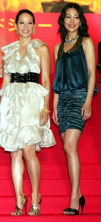 Lucy Liu and Yoshino Kimura at the Japan premiere of