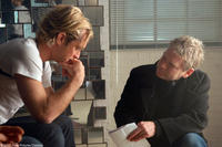 Jude Law and director Kenneth Branagh on the set of