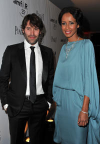 Jalil Lespert and Sonia Rolland at the amfAR Inspiration Gala in Paris.