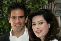 Edwige Fenech and Eli Roth at the