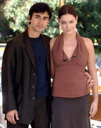 Luigi Lo Cascio and Giovanna Mezzogiorno at the press conference and photocall of