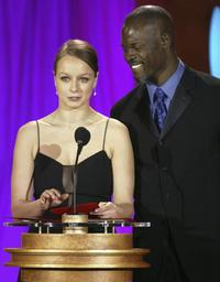 Samantha Morton and Djimon Hounsou at the 9th Annual Critics Choice Awards.