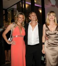 Caroline Neron, Marc Labreche and Denise Robert at the Chanel party for