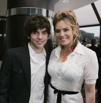 Carter Jenkins and Sandra Taylor at the premiere of