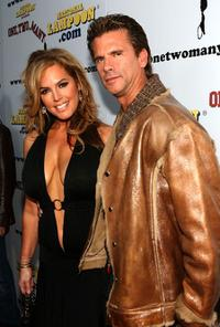 Sandra Taylor and Lorenzo Lamas at the premiere of