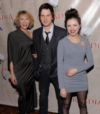 Lia Williams, Tom Riley and Bel Powley at the after party of the broadway opening night of