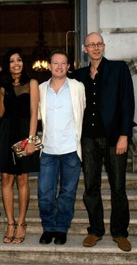 Freida Pinto, Simon Beaufoy and Chris Dickens at the Film4 Summer Screen in London.