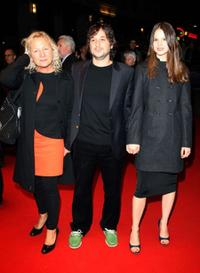 Producer Agnes B., Harmony Korine and Rachel Kornie at the BFI 51st London Film Festival.