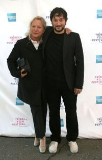 Producer Agnes B. and Harmony Korine at the premiere of
