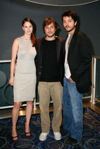 Rachel Korine, Harmony Korine and Diego Luna at the North American premiere of