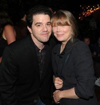 Aaron Schneider and Sissy Spacek at the after party of the screening of
