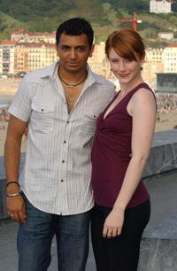 M. Night Shyamalan and actress Bryce Dallas Howard at the 52nd San Sebastian International Film Festival.