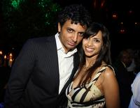 M. Night Shyamalan and Bhavna Vaswani at the after party of the premiere of