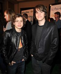 Jake T. Austin and Johnny Simmons at the premiere of
